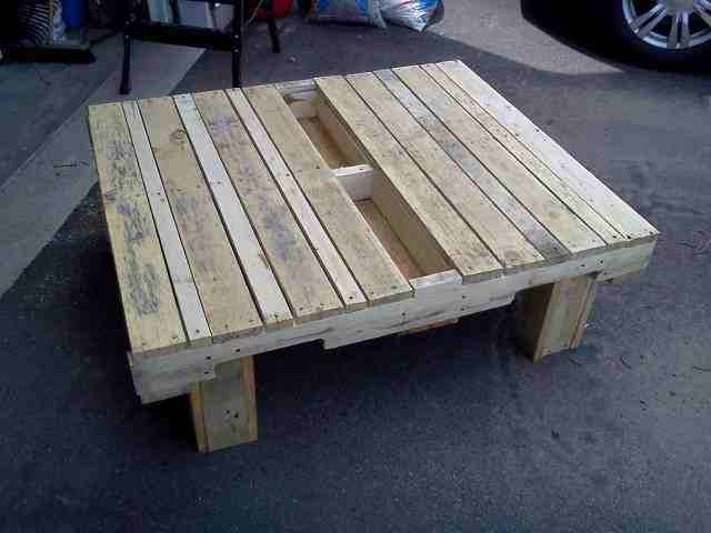 Garden furniture from wooden pallets timber packing cases - How to make table out of wood pallets ...