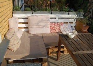 Outdoor Sofas from Wooden Pallets